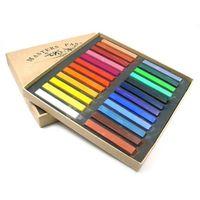 Wholesale 24 Color Chalk Pastel Stick Vermicelli Chalk Powder Brush Hair Chalk