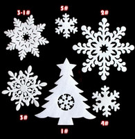 Wholesale 25pieces set christmas Snowflake String Decorations christmas tree Ornaments