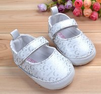 Wholesale 3 pairs can choose size Newest baby girl first walkers white color fashion baby girl shoes baby princess shoes