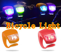 Wholesale 2LED GEL Silicone Frog Light Bicycle Light Lamp Frog Headlight Silicone light Bike Light Lamp by DHL