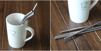 Wholesale straight Durable Stainless Steel Drinking Straw Straws Metal for Bar Family kitchen By DHL Free