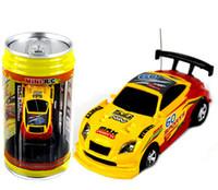 all'ingrosso radio control car-2016 new updated auto 4CH RC New Coke può Mini velocità RC di controllo di Radio corsa macchinine Gifts Promotion (giallo)