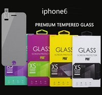 Wholesale 0 mm Slim H Top Sticker Tempered Glass Screen Protector for iphone s C Iphone6 plus Samsung galaxy S3 S4 S5 Note
