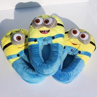 Green plush slippers - Despicable Me Minions Slipper Plush Stuffed Slippers Pairs Cuddly Fluffy Jorge Dave Stewart EMS