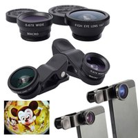 Wholesale Clip in1 Universal Wide Angle Marco Fisheye Lens for Samsung Galaxy S3 S4 S5 Note iPhone S C S