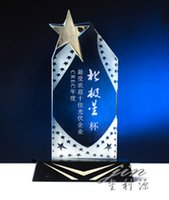 crystal trophy award - Custom products sell like hot cakes crystal trophy MEDALS in Creative group of high grade trophy Star star metal trophy staff award th