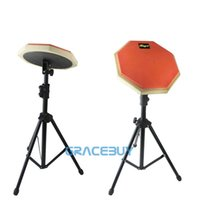 Wholesale Silent Practice Drum Pads And Stand set Beginner Drumming Practise Dumpad For Drummers Gift Pair Drumsticks