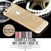 Wholesale Fashion Full Body Skins Stickers for iPhone Plus Dull Polish Rhinestone Diamond Bling Film Protect High Quality Viscose Sticker iPhone