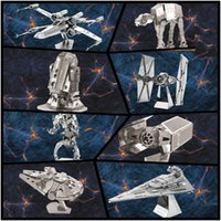 Wholesale Nano Puzzles Destroyer Droid Star Wars D metal model DIY Millennium Falcon X WING ATAT Mini Gift to children Originality
