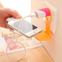 battery vent - New Arrival Flexible Cell Phone Cellphone Car Air Vent Stand Hanger Battery Charging Holder Bracket Flexible Folding Tray Holders
