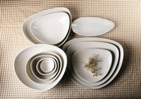 Wholesale Porcelain tableware products to suit the European and American famous brand White basin plate cup times