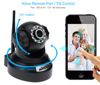 CCTV Cámaras de Vigilancia KKMOON HD 0.3MP Cámara IP PnP P2P Pan Tilt IR Corte WiFi Red Seguridad IP Webcam Vigilancia S381
