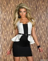 Night Out & Club Bodycon Dresses Summer 2014 Fashion Women Sexy Peplum Work Spring Autumn Dress Womens Party Bodycon Cap-sleeves Career Work Dresses With Belt