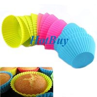 cupcake liners - Soft Silicone Round Cake Muffin Chocolate Cupcake Liner Baking Cup Mold cm