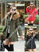 winter jackets for women - New Arrival Parkas For Women Winter SlimThick Fur Collar Long Down Jacket Plus Size Jaqueta Feminina NVQ07