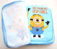 Wholesale New Blue Despicable Me Square Hand Towel Face Towels Party Kids Gifts