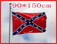 Wholesale New cm cm two Printed Flag Confederate Rebel Civil War Flag Confederate Battle Flags National Polyester Confederate Flag by the USA