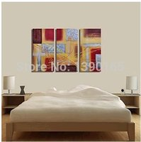Cheap High Quality Amber Conducting on Metal Abstract Decoration Oil painting On Canvas Home Wall Art Decor Living Room Picture