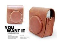 Wholesale Newest Fujifilm Fuji Instax Mini8S PU Leather Camera Case Bag Cover Digital Camera Lens Brown Black