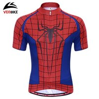 Wholesale New Arrival Cycling Costume Spiderman Cycling T shirt Casual Short Sleeve Spiderman bicycle Jersey