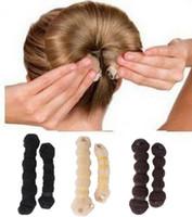 Wholesale Hot Fashion Hair Elegant Magic Style Bun Maker Buns Hair Tools large small Colors