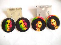 wooden earrings - 5pairs Newest Bob Marley Wooden Earrings