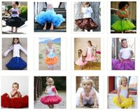 pettiskirts - 13 colors Baby Girls Pettiskirt Skirts NORMAL FLUFFY Bow Petti Skirts Tutu Tutus Pettiskirts Red Ruffles Children s Skirts Kids Clothing