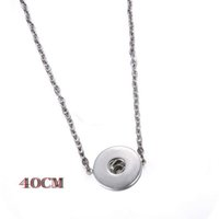 brand name jewelry - Floating Locket Snap Button Connector Charm Bead Pendant Collar Bone Tiny Chain Necklace Jewelry Fit On Popular Brand Name Snap Accessories