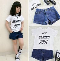 bbw pants - Fashion children shorts girls BBW style jeans shorts kids contracted leisure pants all march denim shorts kids clothing A7833
