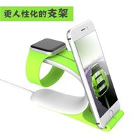 Wholesale 2016 new Apple Watch charging base stents Cell Mobile Phone Holder Bracket Stands for iPhone Plus Galaxy Note S6 S7 GPS