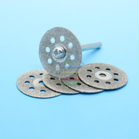 Wholesale 5pcs mm Mini Diamond Sharpen Cutting Disc Abrasive Discs Disks Cut Off Grinding Rotary Tools for Dremel pc Rod
