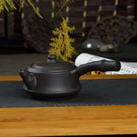 red clay - Teapot Yixing purple sand kettle kongfu tea set side put pot new style hand pull tea tool cc Freeshipping