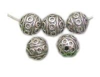 bali silver rings - 30Pcs x8mm Ball Flower Bali Style Metal Antique Tibetan Silver Spacer Beads Findings Jewelry Making DIY Z242