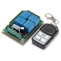Wholesale 4 Channel Wireless Remote Control Switch System with Receiver DC V MHZ