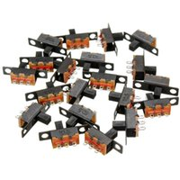Wholesale 20pcs Position SPDT P2T Pin Panel Vertical Slide Switch On Off PCB V A