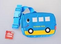 Cheap School Bus Cartoon Waist Pack Male Female Child Bag Baby Messenger Chest Pack Style Coin Purse