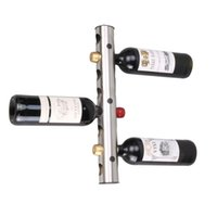 Wholesale Contemporary IKEA Style Stainless Steel Holes Wine Rack Red Wine Holder