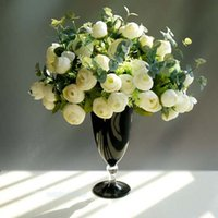 Wholesale Modern Glass Tabletop Vase Vase match white Flower for Home Decor
