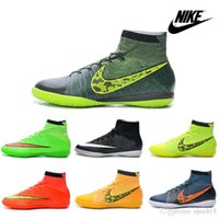 Chaussures de soccer Nike Elastico Superfly IC Indoor Hommes Football Bottes Crampons Laser 100% des chaussures pour hommes d'origine Football Chaussures Chaussures de football