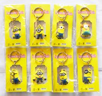 Wholesale Despicable Me Minion Action Figure Keychain Keyring Key Ring Design Cute Promotion Gifts New Arrival BY DHL EMS Fedex