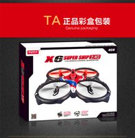 Cheap New Syma X6 RC Quadcopter Remote Control Helicopter 4CH Rolling Quadrocopter UFO Saucer Big Drone Free shipping