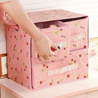 Wholesale Practical home college girls dormitory Desktop socks underwear storage box large folding cosmetic storage box