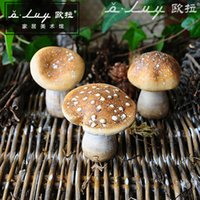 Wholesale OVLY European Gardening decoration ornaments clay simulation Mushroom shaped microlandschaft