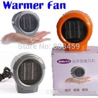 Wholesale Mini Portable Personal Ceramic Space Heater Electric Heaters V V Warmer Fan Forced Grey Orange A3