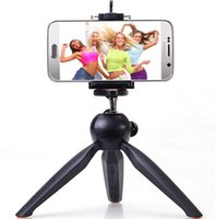 cell phone dropship - Dropship Universal cell Phone Camera Holder selfie stick stand mount Clip Yunteng YT mini tripod Accessories For iPhone6s plus samsung