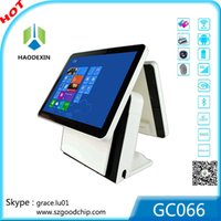 cash register - GC066 made in china dual screen android system electronic supermarket cash register with D D barcode scanner