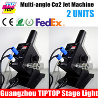 Wholesale 2Pcs CO2 Machine with Meter Hose V V CO2 Machine Jet Led Stage Light New Easy Co2 Jet with Quick Power Connector