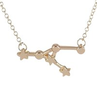 animals cancer - New Cancer Zodiac Sign Astrology Necklace Constellation Jewelry Star sign necklace for Women Birthday and Wedding Gift XL21210pcs
