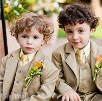 Wholesale New Arrival Style Custom Made Boy s Formal Wear Children Boy Wedding Groom Suits Boys Formal Wedding BirthdayTuxedos