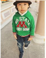 Wholesale Korean boy hooded fleece long sleeved children s clothes autumn and winter boy outwear